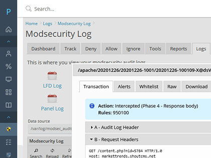 ModSecurity Auditing